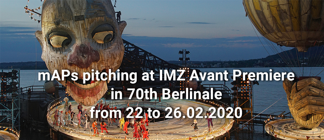 mAPs pitching at IMZ Avant Premiere in 70th Berlinale